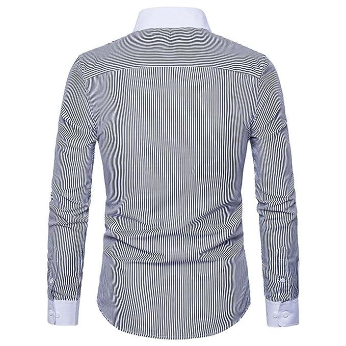42895208f7f3 Männer Hemd Slim Fit Streifen Langarm Herrenhemden Freizeit Luxus Hochzeit  Arbeit Business Bluse Super Qualität Henley