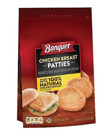 Banquet Chicken Breast Patties, 24 Ounce: Amazon.com ...