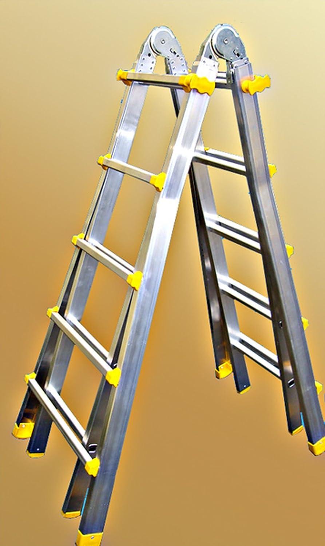 Escalera 4 x 5 peldaños, escalera de tijera, escalera, aluminio escalera, de acuerdo con la norma EN 131 BG, nuevo: Amazon.es: Bricolaje y herramientas