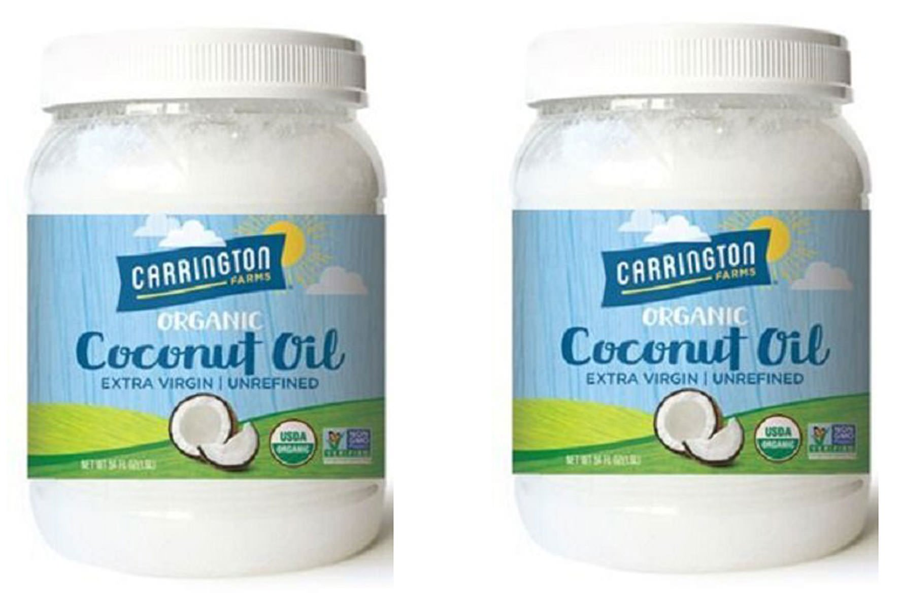 Carrington Farms Organic Extra Virgin Coconut Oil, 54 Ounce, 2 Pack by Carrington Farms (Image #1)