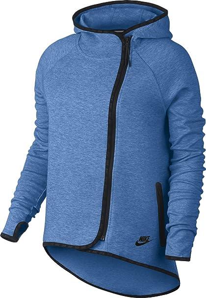 Women s Nike Tech Fleece Cape Hoodie Gamma Blue 669613-456 (S)  Amazon.in   Sports 93b8fb64ae