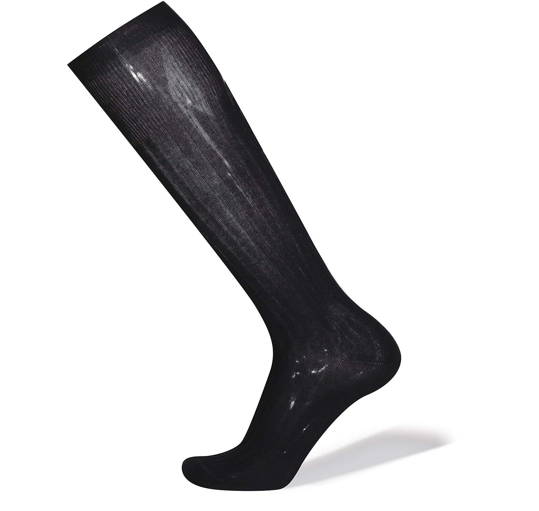 Soft Cotton Knee-high Socks BOSTON with Ribs
