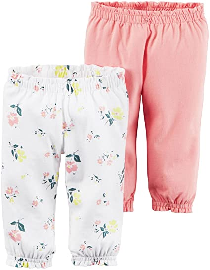 e4862f6d7 Carter's Baby Girls 2-Pack Babysoft Pants, Pink, Newborn: Amazon.in: Beauty