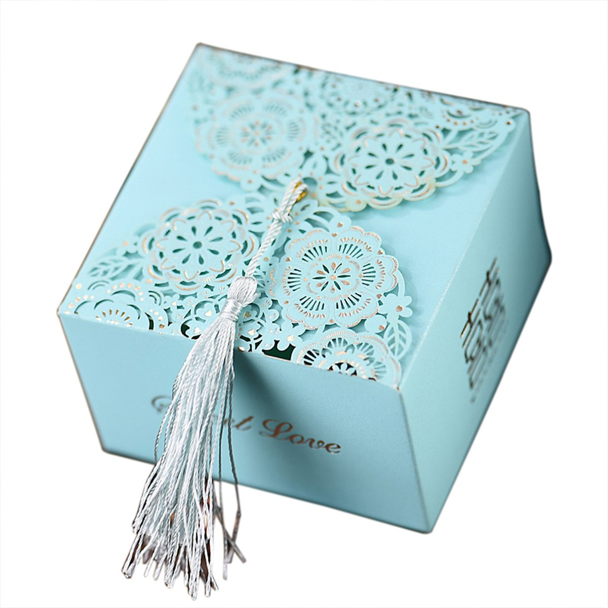 autulet Large Size Unique Wedding Favors Hard Paper Wedding Gift Boxes Storage Box Classic Chinese Style 10Pcs (Candies or Chocolates not Included)