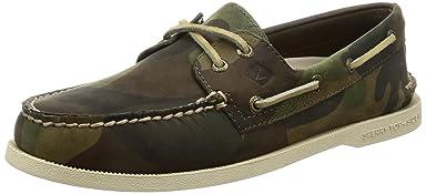 Authentic Original Boat Shoe: Green Camo