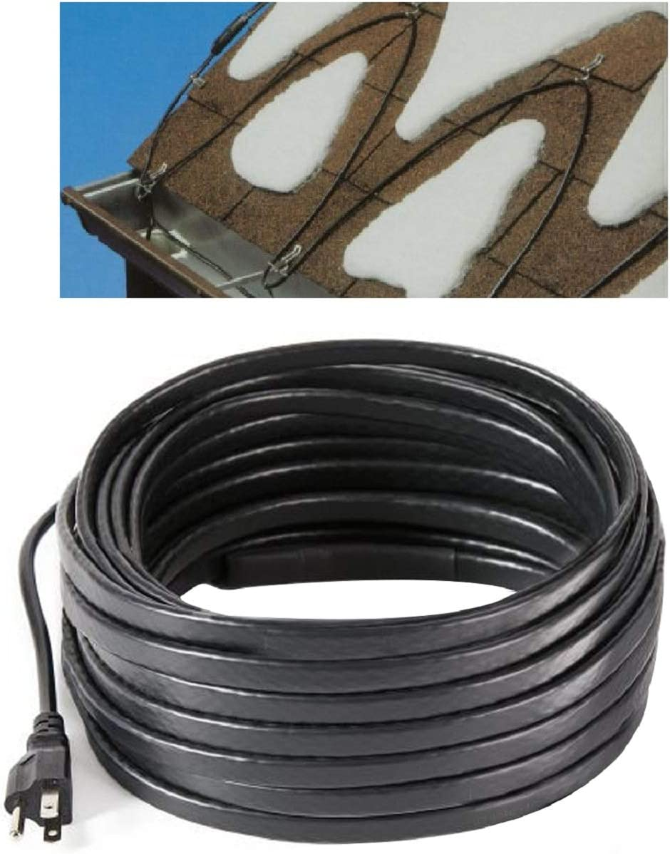 H&G lifestyles Roof Snow De-Icing Kit Self-Regulating-Plug-in Ready Heat Cable 140 feet 8 Watts Per Foot