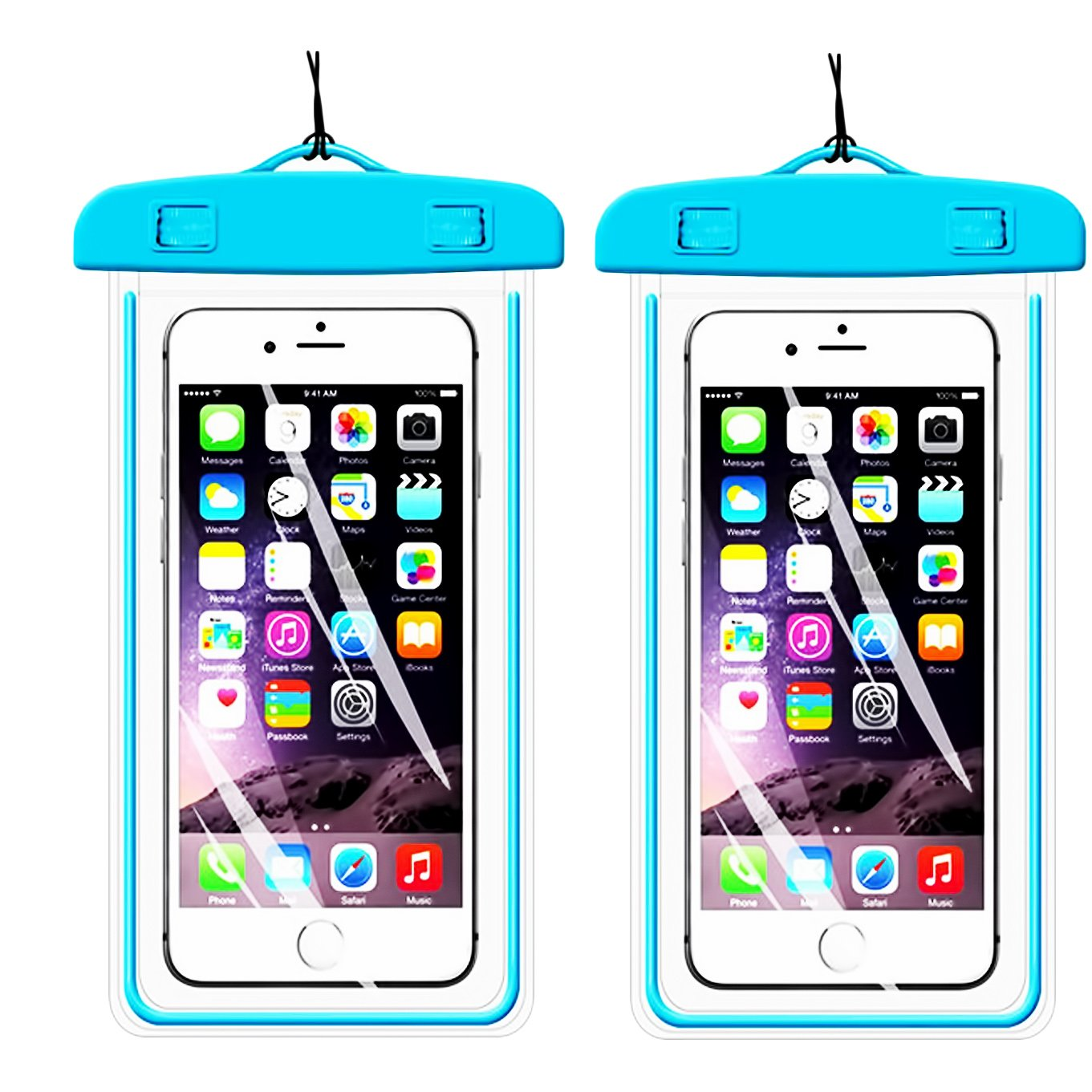Amazon.com: 1 Pack Azul Funda impermeable universal, casehq ...