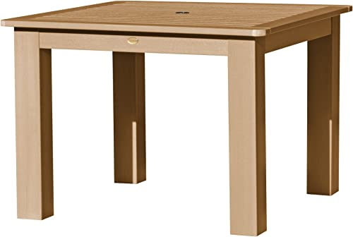 highwood AD-DTB44-TFE Weatherly and Lehigh Square Dining Table, 42-Inch, Height, Toffee