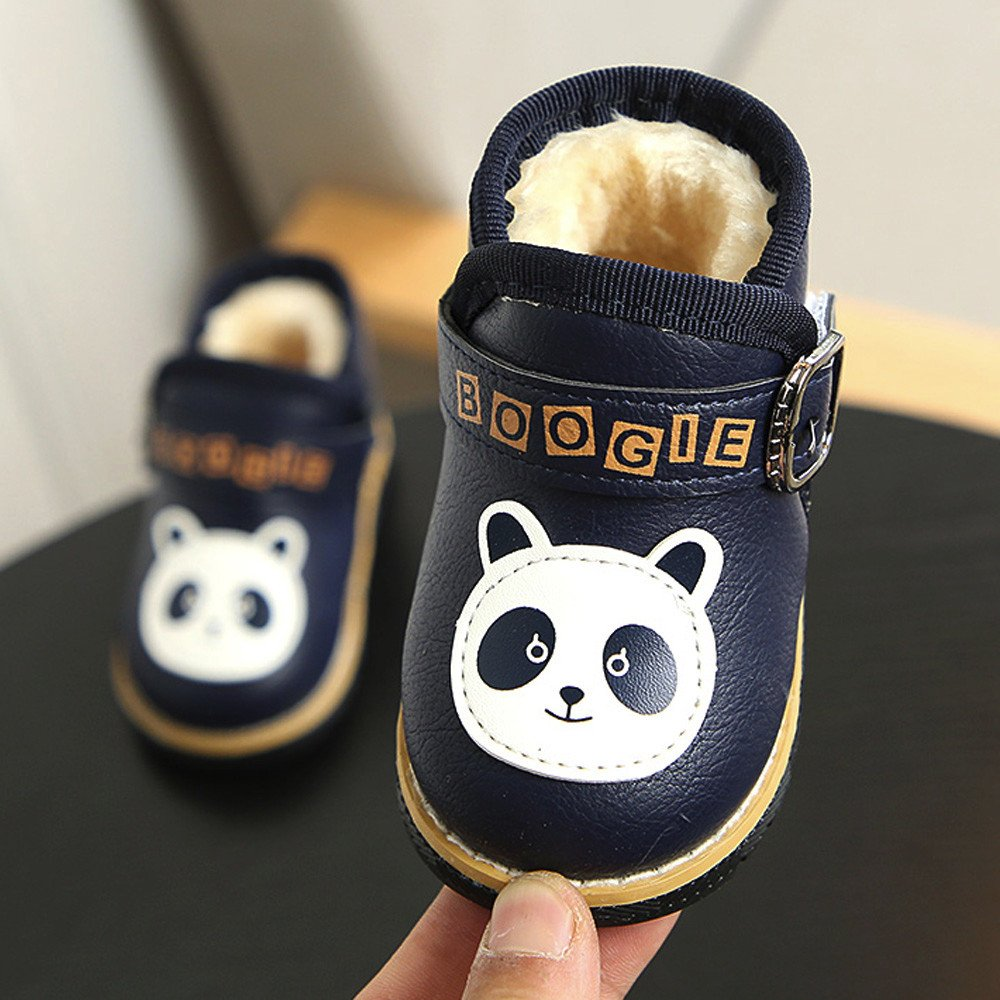 87caf9f8b8 YanHoo Calzado de algodón para niños más Terciopelo cálido y Suave Inferior  para niños pequeños Bebé