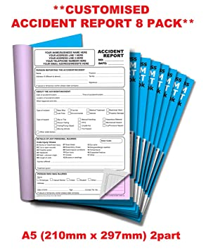 Cherry Carbonless NCR **Custom** Invoice Duplicate Book A4 50 Sets **8 Pack**