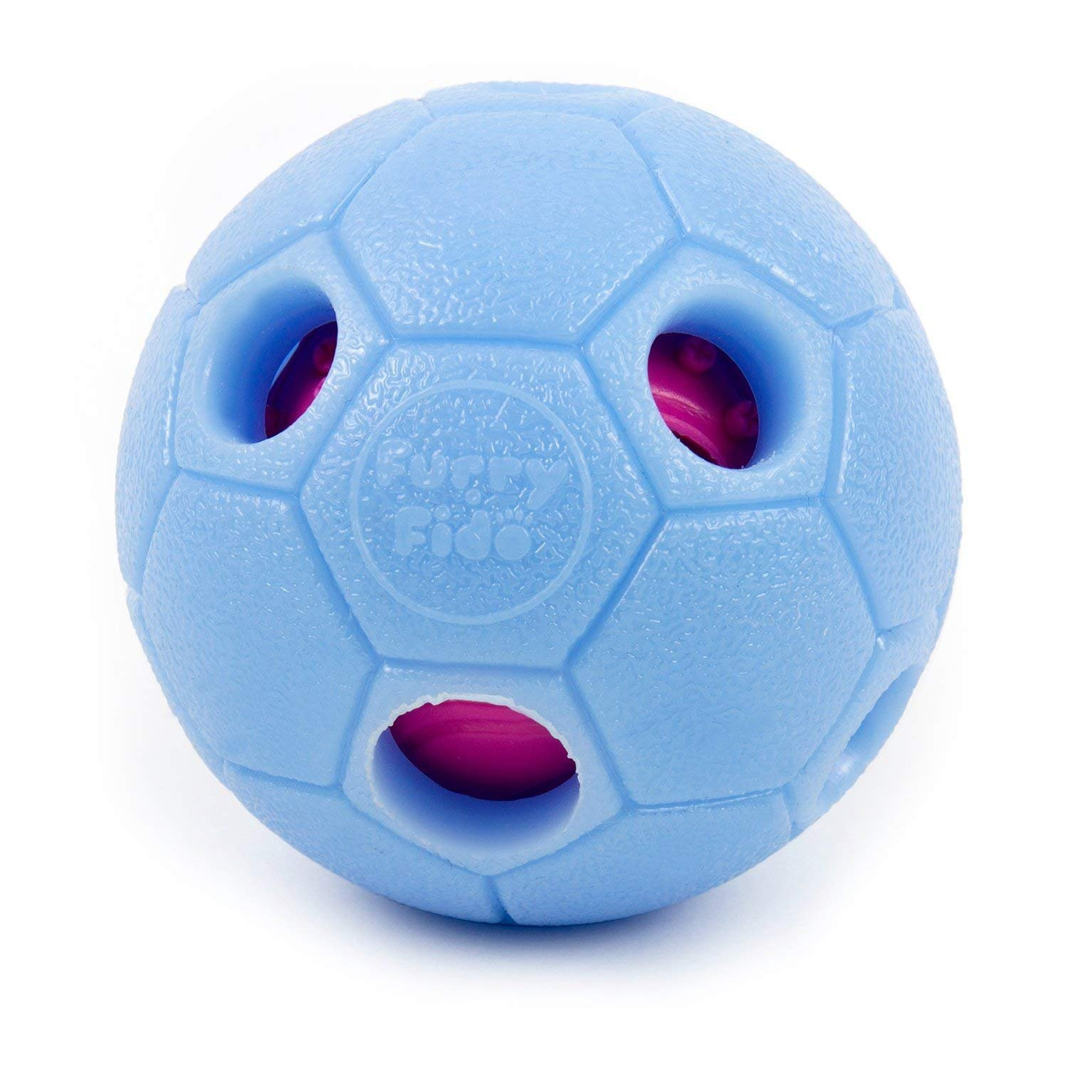 Interactive Dog Ball by FurryFido, Dog toys ball and treat dispensing for dogs,cat and small animals. Funny Dog Puzzle and Dog Toys for Boredom and Thinking