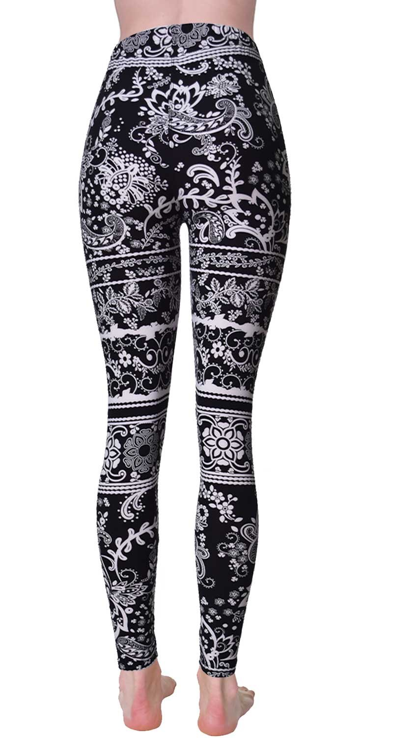 VIV Collection Regular Size Printed Brushed Leggings (Nighttime Bloom) by VIV Collection (Image #2)