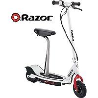Razor E200S Seated Electric Scooter, Escúter electrico con asiento - Blanco con Rojo