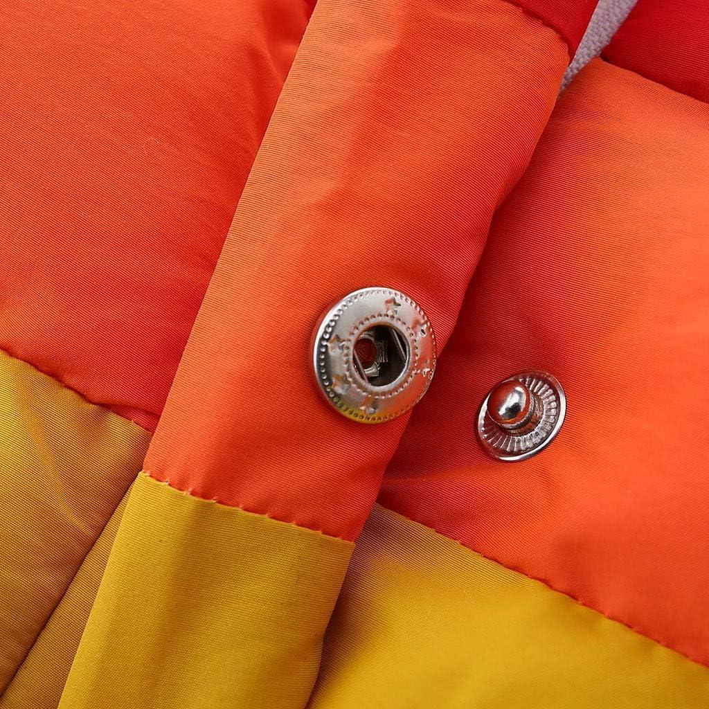 Sunenjoy B/éb/é Gar/çons Fille Manteau sans Manches Veste Doudoune Gilet /Épaissir Chaud Outerwear Arc en Ciel Blousons Bouton Mode Chic Tenue V/êtement Automne Hiver pour Enfant 3-7 Ans