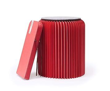 FOLD CONCEPT Faltbarer Papier Hocker Papphocker Mit Sitzauflage | Innovativ  U0026 Multifunktional | Brauner Karton |