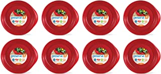 product image for Preserve Everyday BPA Free Dinner Plates Made from Recycled Plastic in the USA, Bulk Set of 32, Pepper Red