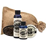 Beard Care Kit by Mountaineer Brand: All-Natural, Complete Beard Care in one Kit (WV Coal) Includes: Beard Oil, Beard Balm, Beard Wash, and Beard Brush