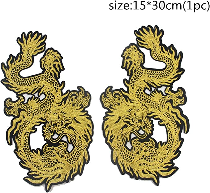 Applique Embroidery Dragon Patches for Clothing Coat Iron On Sewing On Stick EV