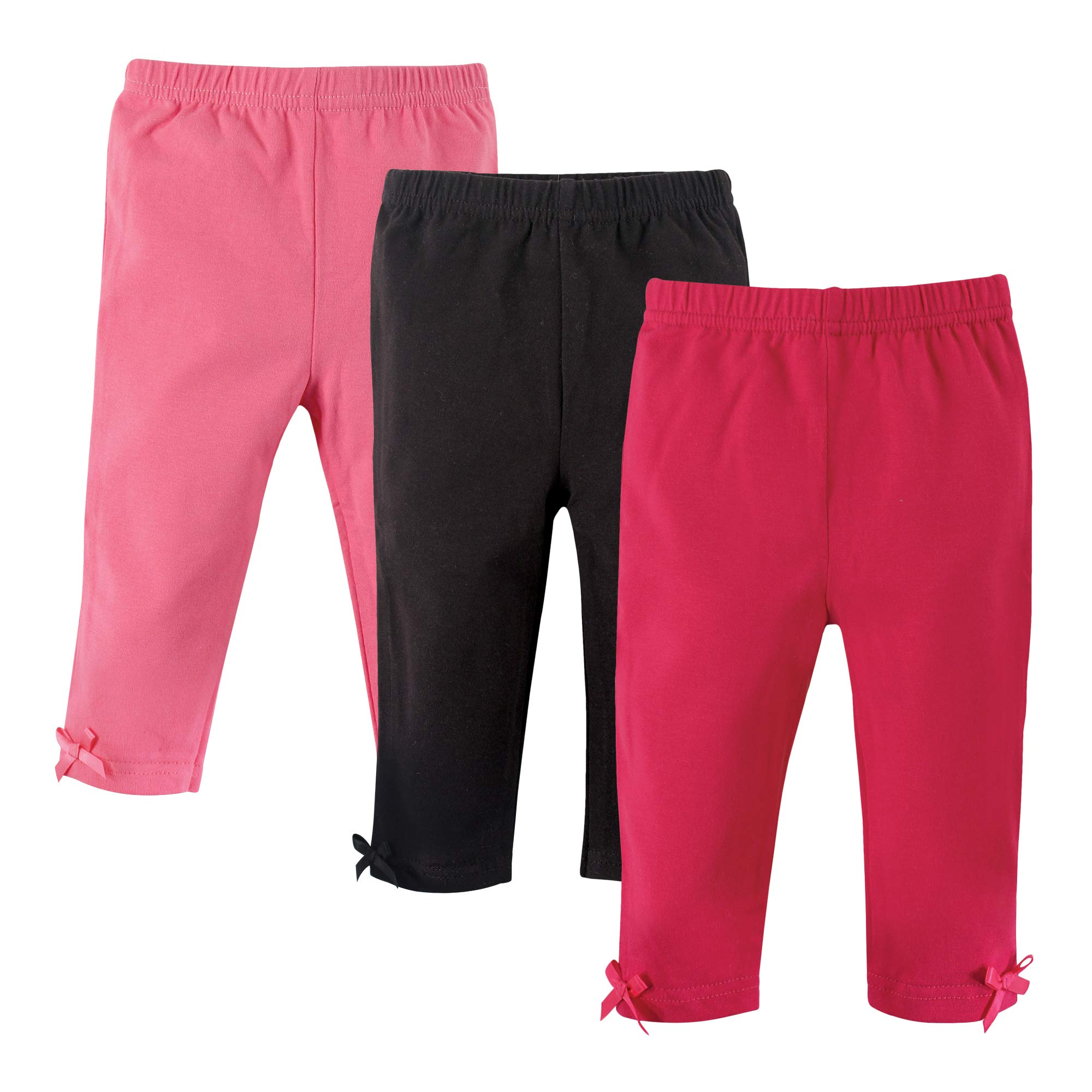5600ae7fb108c Hudson Baby Baby-Girl Leggings with Ankle Bow, 3 Pack product image