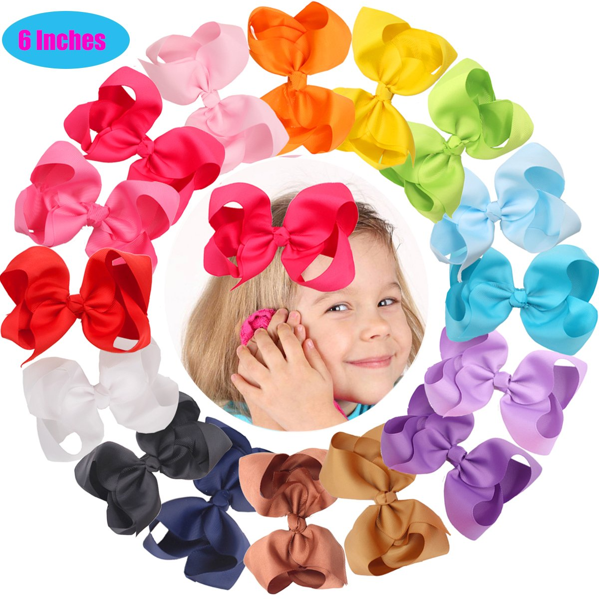 Hair Accessories Bright 40 Pieces 3 Inch Hair Bows Alligator Hair Clips For Baby Girls Toddlers In Pairs