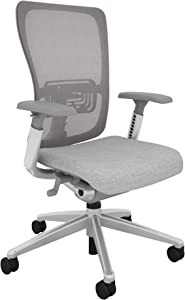 Haworth Zody High Performance Office Chair with Ergonomic Adjustments and Flexible Mesh Back, Smoke