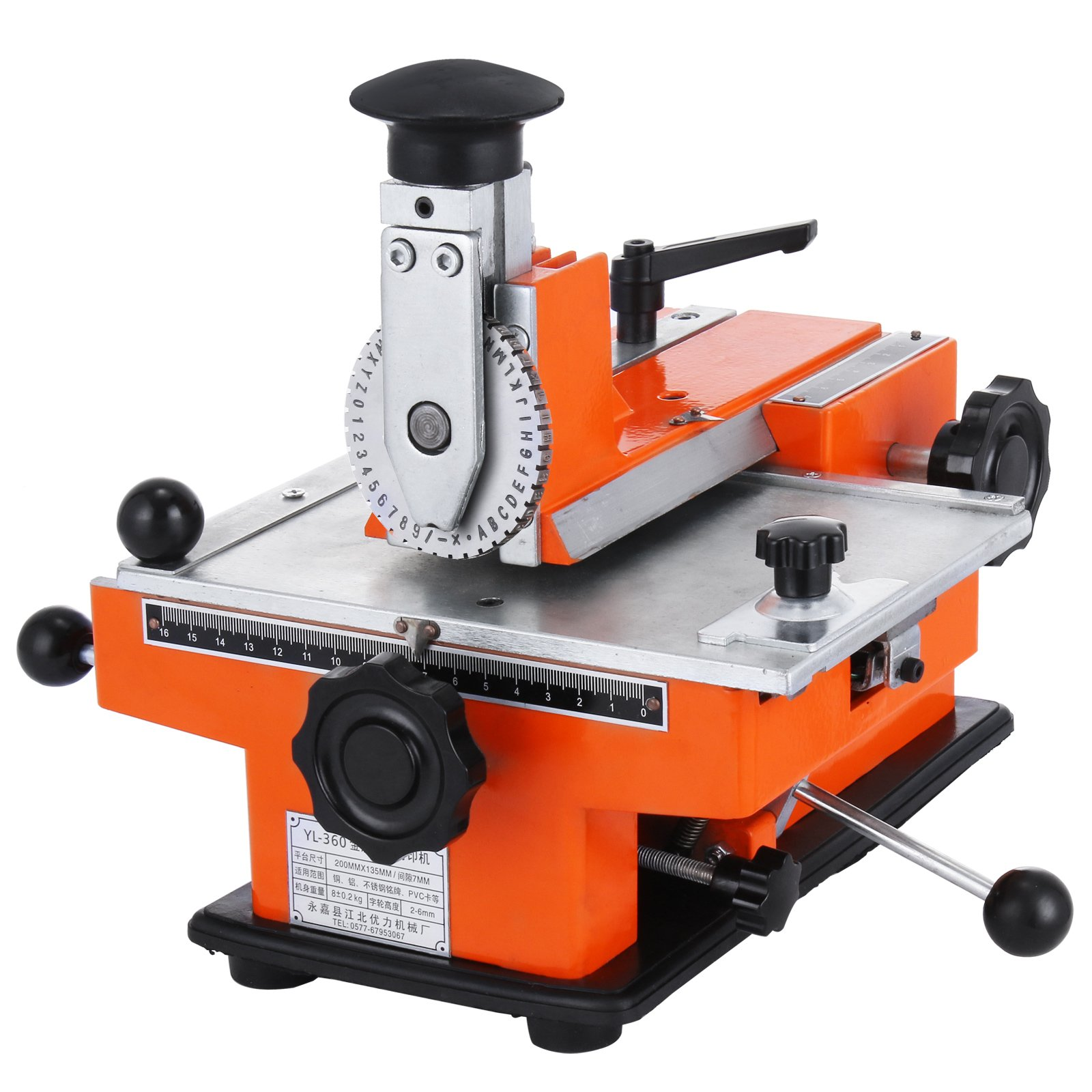 BestEquip Semi-automatic Metal Stamping Printer Sheet Embosser Metal Embosser Suitable for Copper Aluminum Stainless Steel and Plastic (metal stamping printer)
