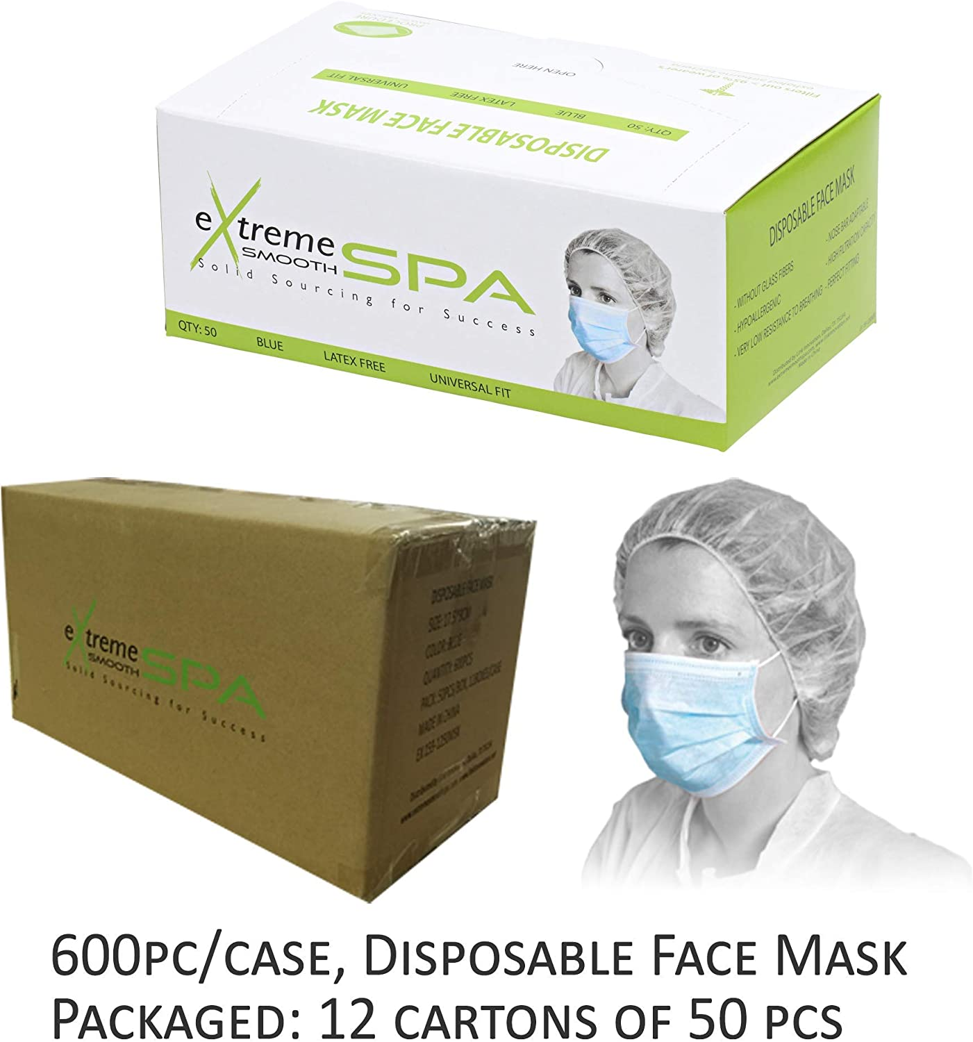 disposable face mask by case