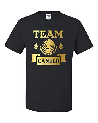 5f46743a5942 Freedomtees Team Canelo Canelo Alvarez Mexico Boxing Unisex T-Shirt (S)  Black