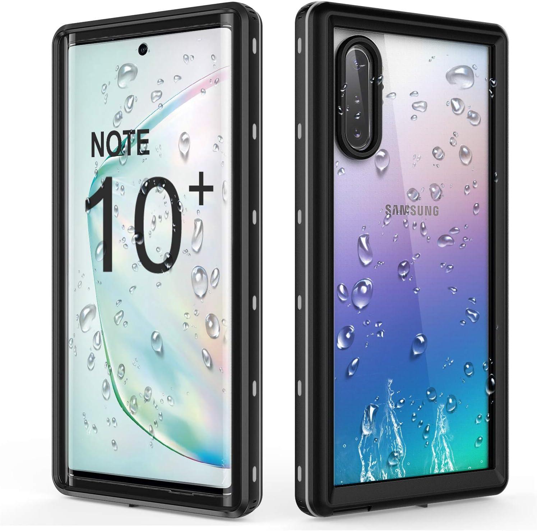 sigua Funda Note 10 Plus Compatible para Samsung Galaxy Note 10 Plus Fundas con 2X Cristal Templado 3 in 1 Slim Fit Caso Carcasa 360 /°de Protectora Anti-Huella Digital-Oro /& Negro