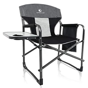 Amazon.com: ALPHA CAMP - Silla reclinable plegable de gran ...
