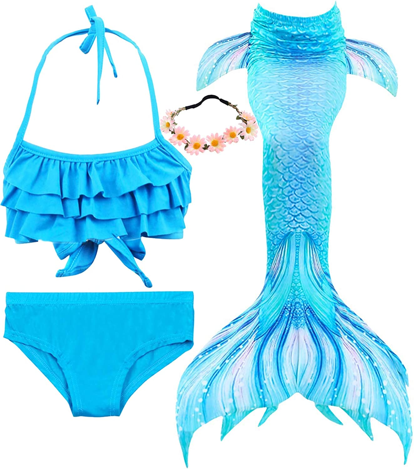 Color : Purple , Size : L Swimsuit Mermaid Tail Swimsuit With Fin,Girls Mermaid Tails For Swimming,Mermaid Tails For Swimming,Swimmable Swimwear With Monofin,Princess Bikini Set Swimsuit For Kid