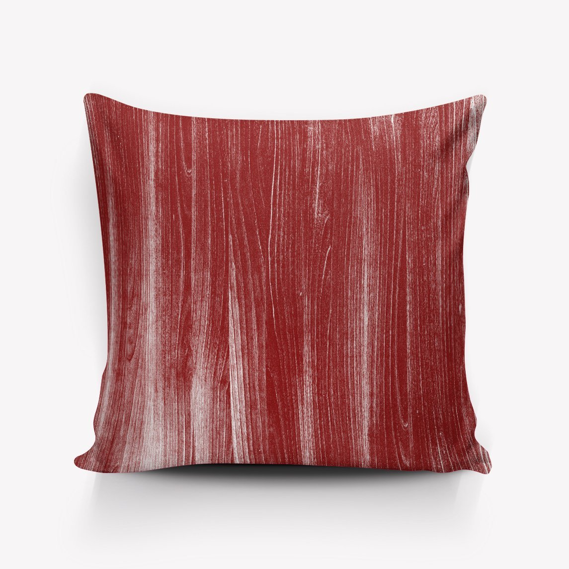 HomeCreator Satin Pillowcase Hidden Zippers Ultra-Soft Hypoallergenic Wrinkle, Fade, Stain Resistant Pillowcases Wood Red Pattern Pillow Case Room Decor 26'' x 26''