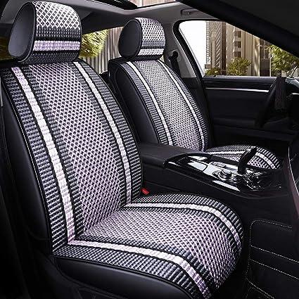 Set Completo Cubiertas de Asiento de Coche Apto Mitsubishi Outlander-Gris Carbón