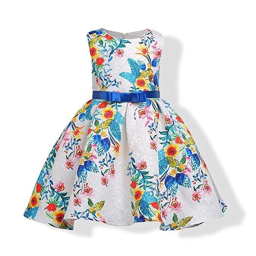 YRE Niña Fiesta cumpleaños Vestido Vestido, Falda Plisada niña ...