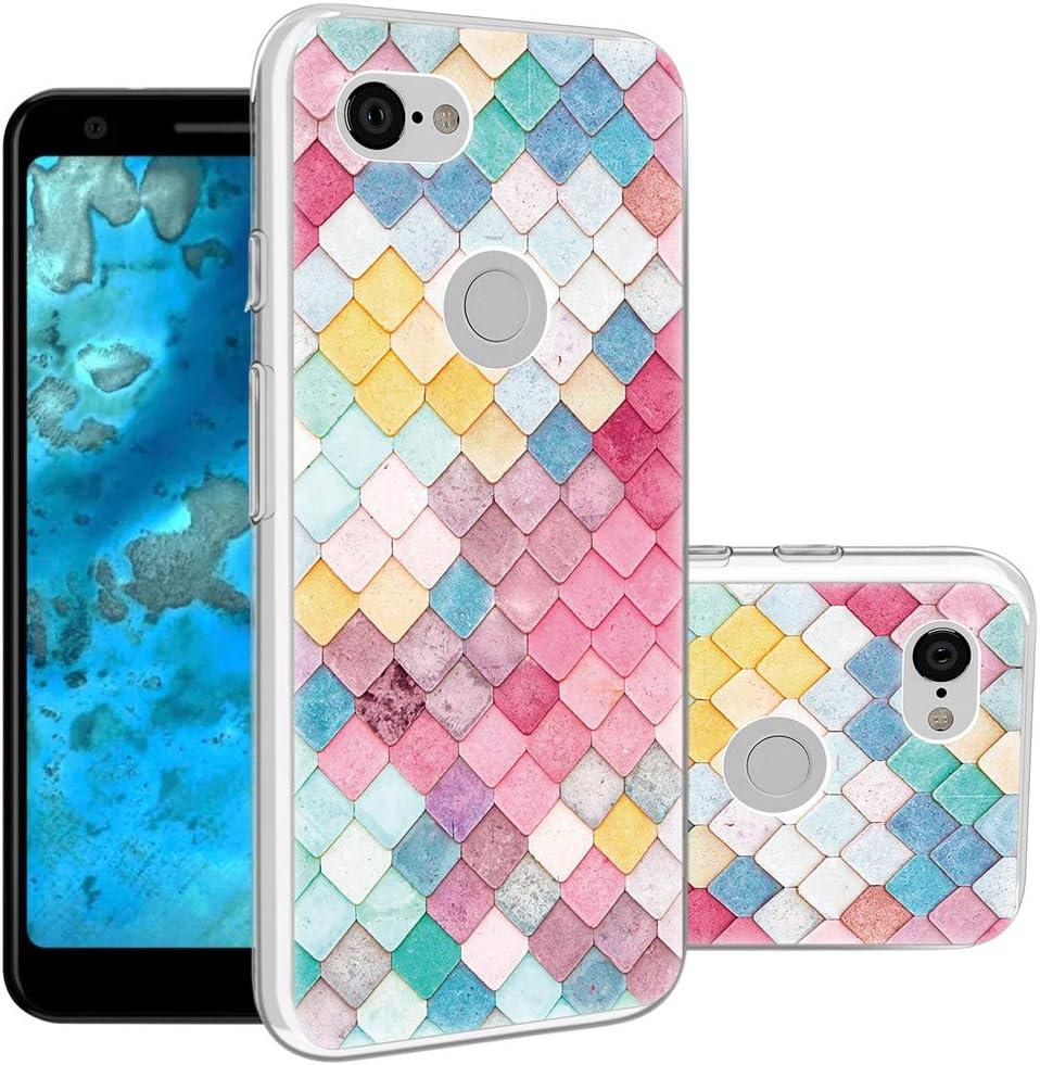 Google Pixel 3a Case,Topnow Shockproof Ultrathin Soft TPU Advanced Printing Pattern Cover Phone Case for Google Pixel 3a - Diamond Lattice