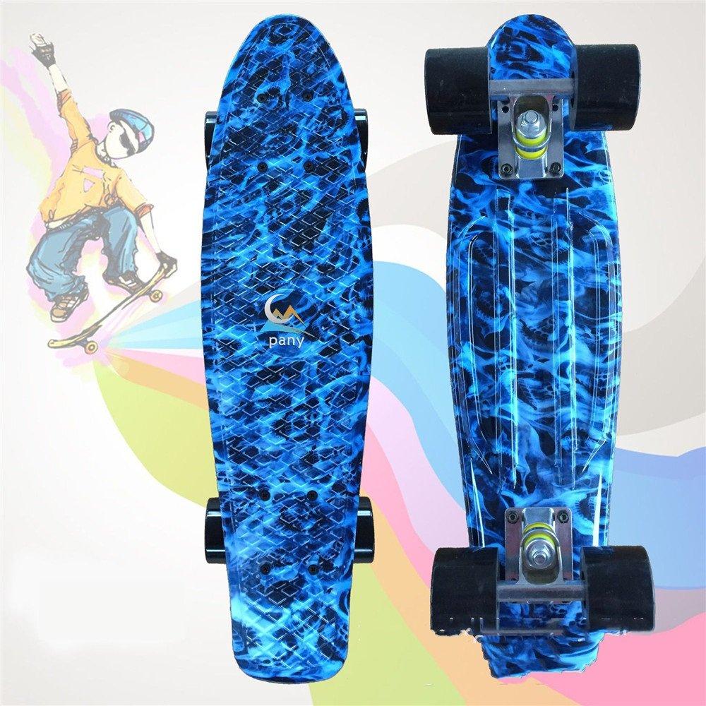 【レビューを書けば送料当店負担】 22インチ完全スケートボードプリントボードプロフェッショナル4ホイールスケートボード、子供、青少年、初心者用 (Color : Red) Red) B07H7X438M Blue Blue : Blue, 浅羽町:57aaa58b --- ryusyokai.sk
