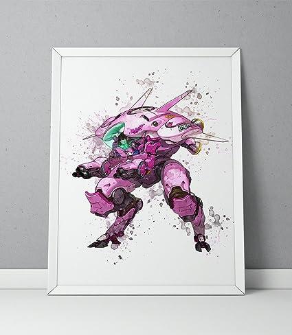 Amazon.com: Overwatch print, D.Va print, Overwatch poster, D ...