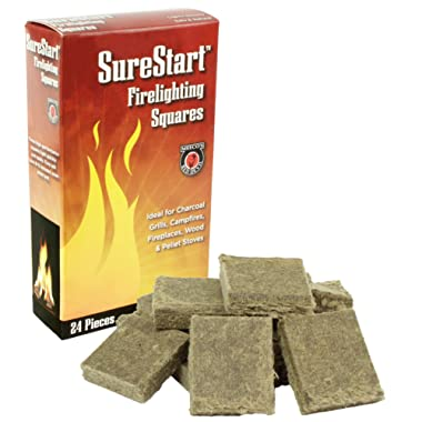 MEECO'S RED DEVIL 418 Firelighting Squares (Pack of 24 squares)
