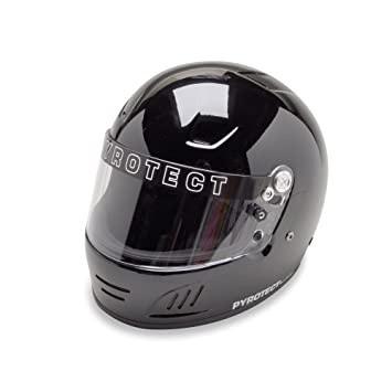 pyrotect negro flujo de aire pro full face casco sa2015 coche Auto Kart Racing