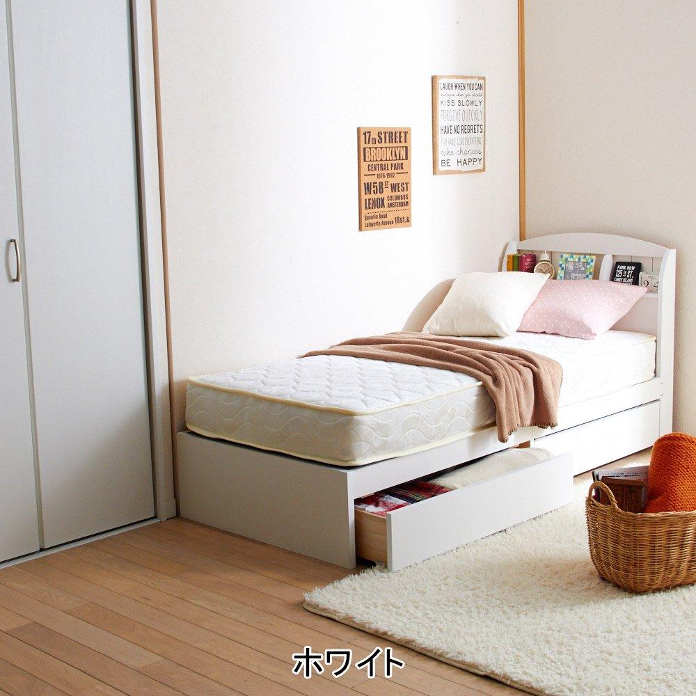【大型】大量収納ベッド(シングル本体のみ) ブラウン B075SXWQHD ブラウン シングル