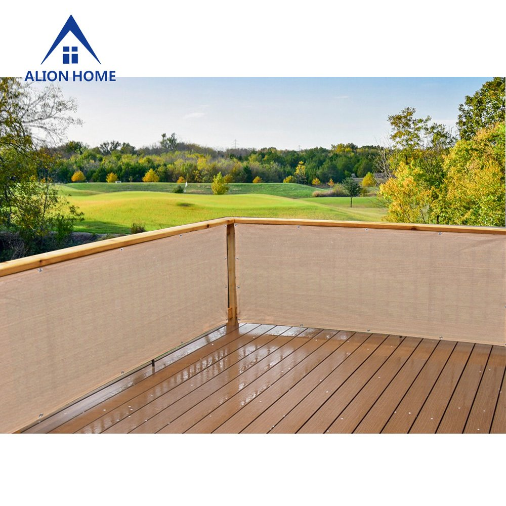 Alion Home Elegant Privacy Screen for Backyard Deck, Patio, Balcony, Fence, Pool, Porch, Railing. Banha Beige (3' x 11')