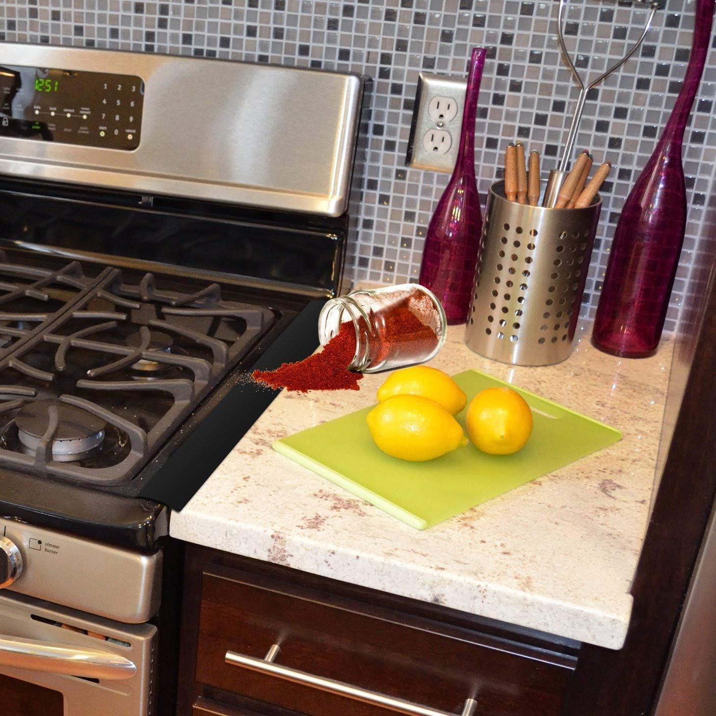 Tapas de silicona para agujero y junta larga (paquete de 2) juntas, encimera, cocina, lavadora, horno, lavadora, color negro: Amazon.es: Hogar
