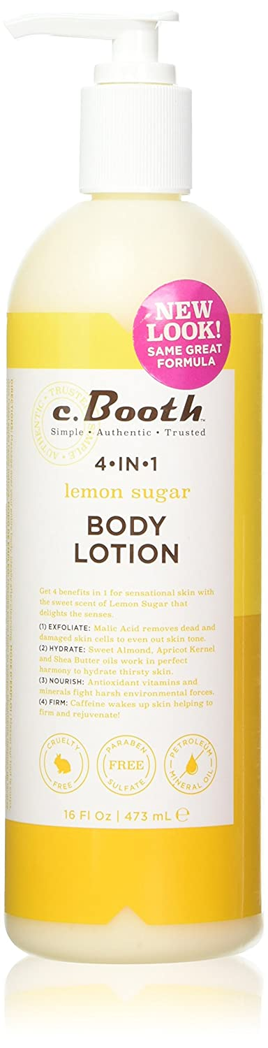 c.Booth 4-in-1 Multi-Action Lemon Sugar Body Lotion, 473 Milliliters 80152