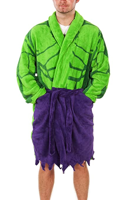 pretty and colorful official store super popular Mens Marvel Comics Incredible Hulk Dressing Gown Green
