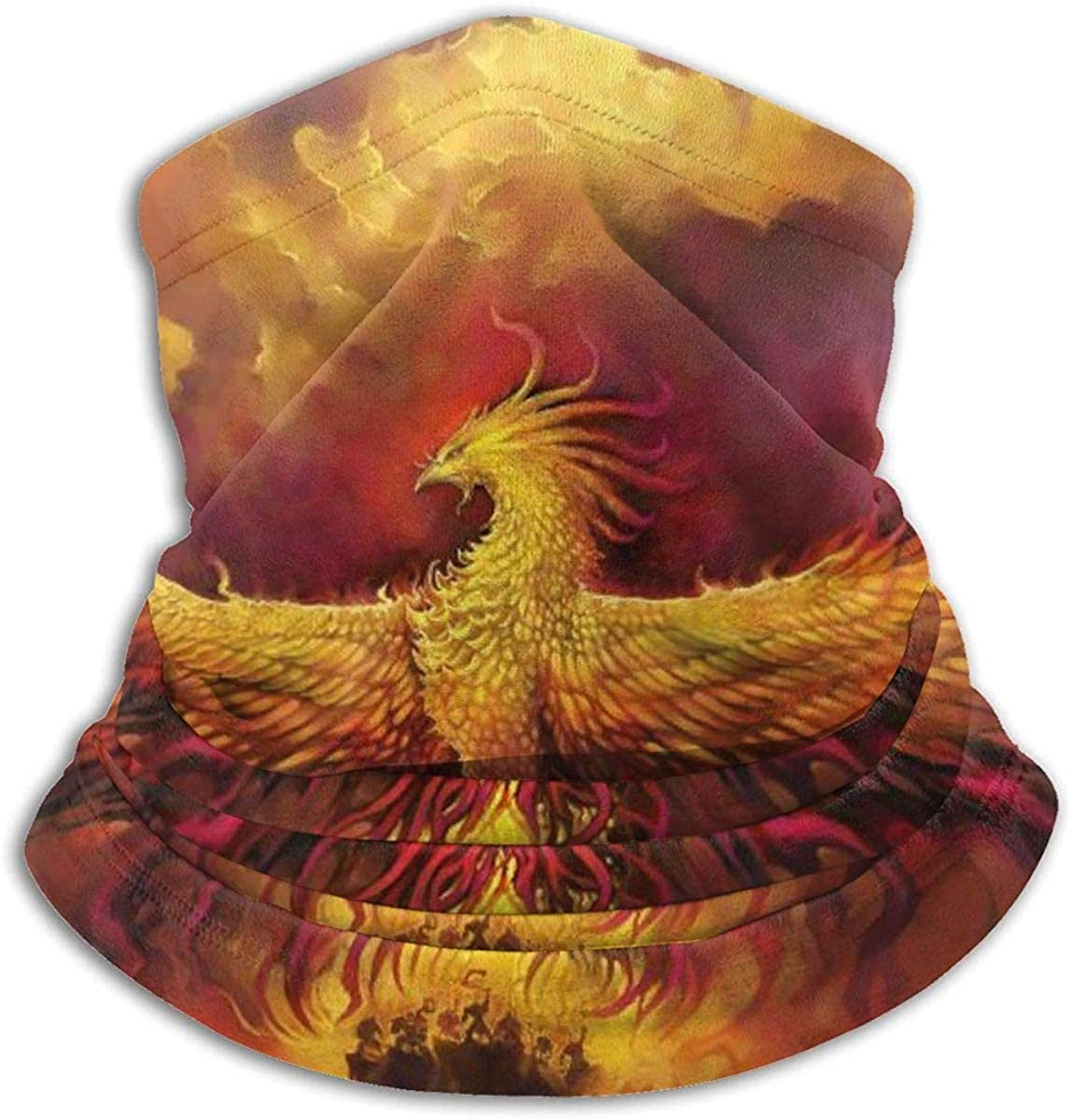 Fiery Phoenix Microfiber Neck Warmer Balaclavas Soft Fleece Headwear Face Scarf Mask For Winter