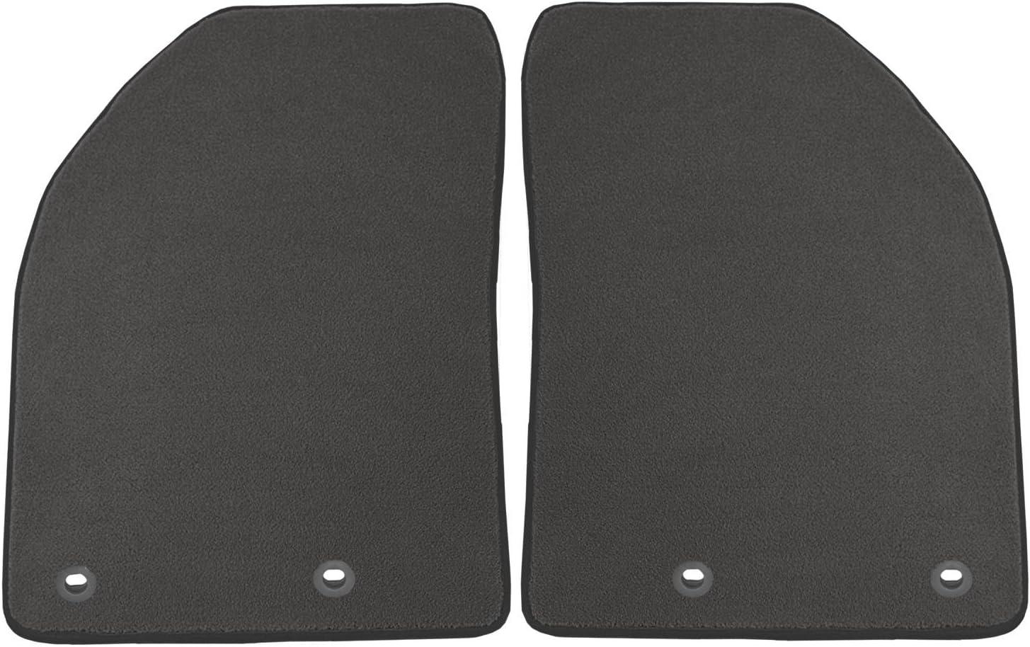 Coverking Custom Fit Front Floor Mats for Select Honda Pilot Models Black Nylon Carpet
