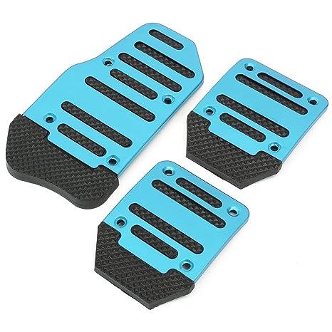 AUDEW 3pcs Pedal Pad único Juego de funda de aluminio para coche auto vehículo