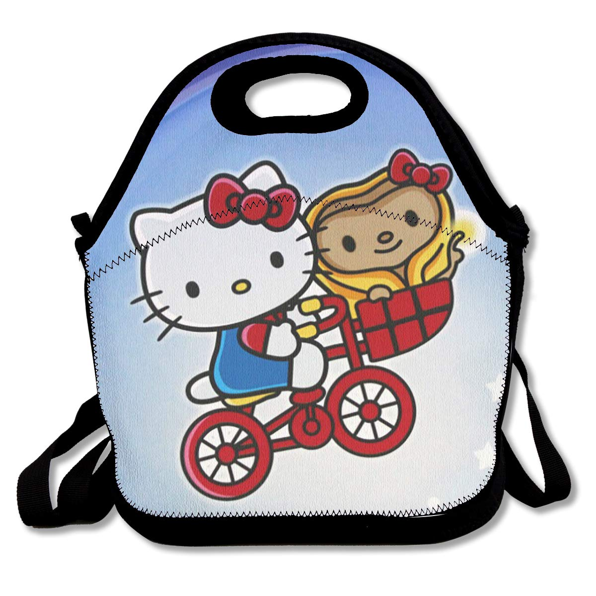b1c94b4b1e06 Amazon.com - Meirdre Lunch Box Hello Kitty Witn Moon Insulated Personalized  Tote Lunch Food Bag -