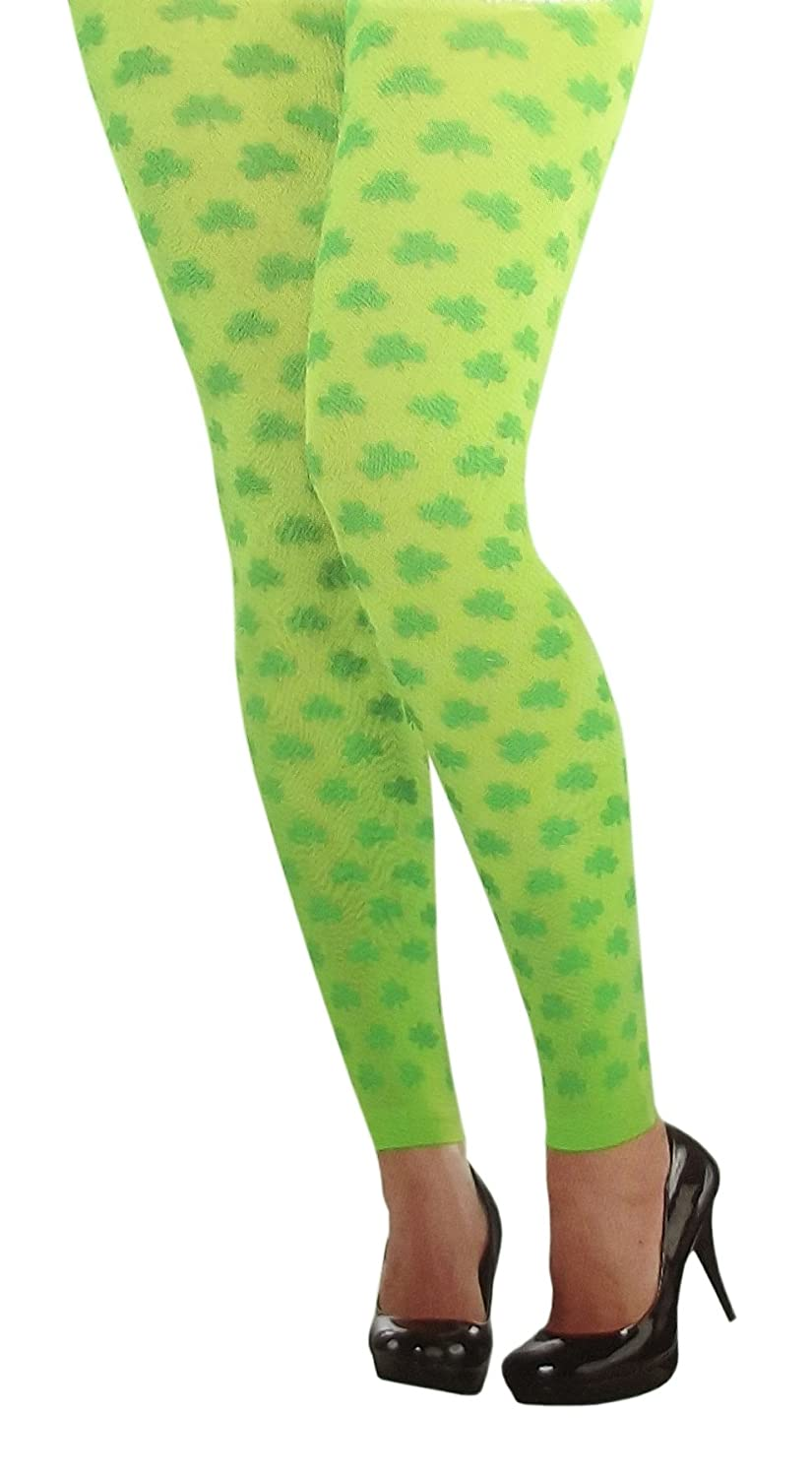 Amscan Shamrock Womens Footless Tights for cheap
