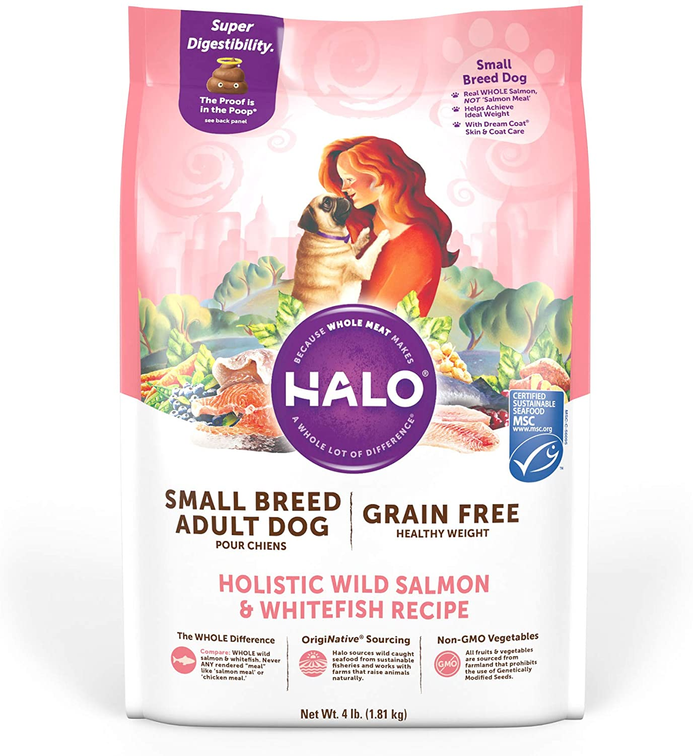 Halo Natural Dry Dog food, Small Breed Recipe